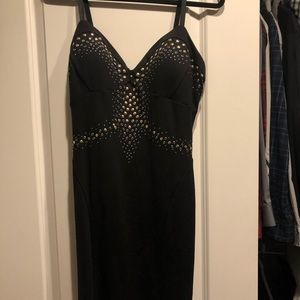 Bebe Black dress with studded detail (NEW) size L